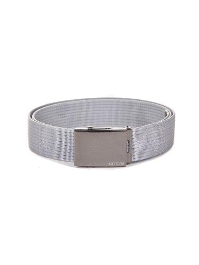 Pánský látkový opasek A029 - šedá