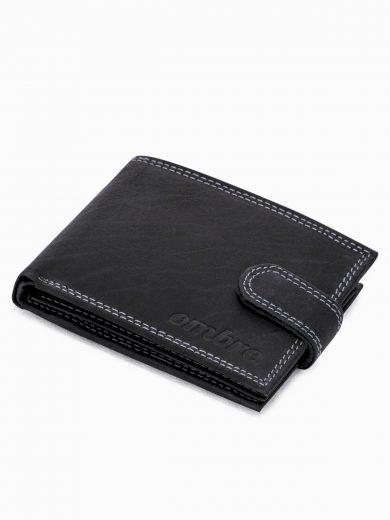 Pánská kožená peněženka A346 - černá