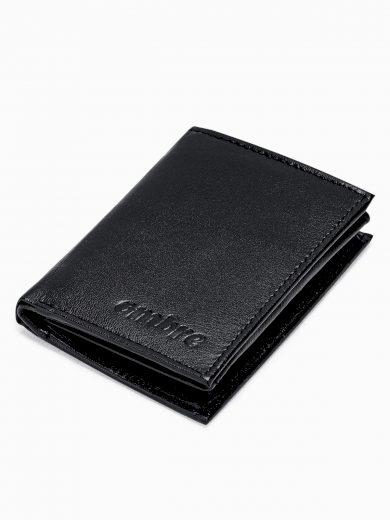 Pánská kožená peněženka A367 - černá