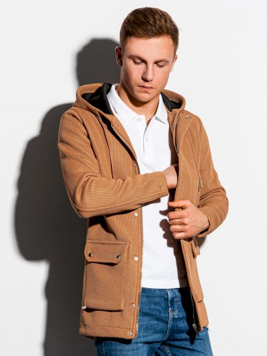 Jarní kabát C454 - hnědá