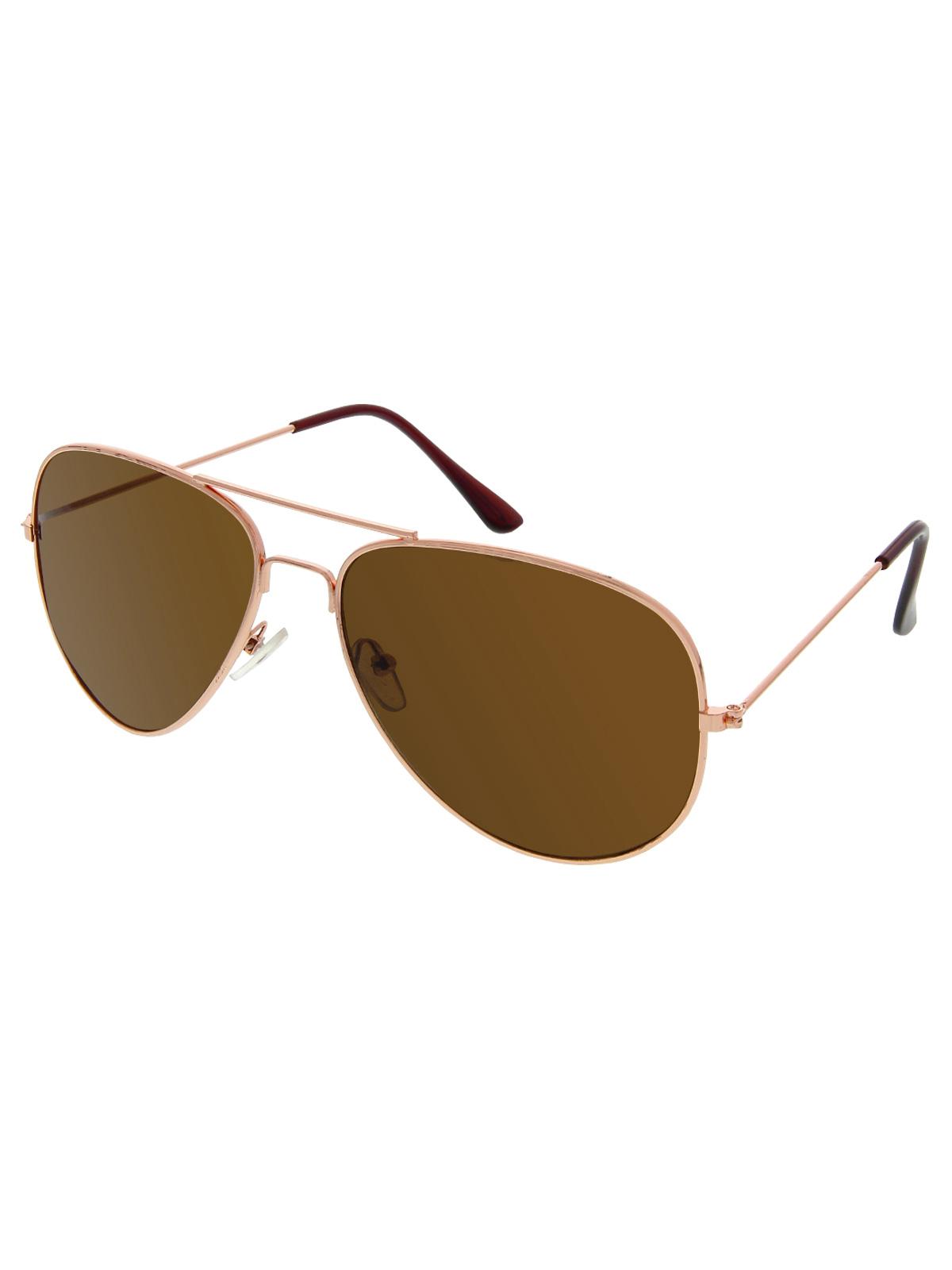 Sluneční brýle Pilotky zlaté obroučky hnědé