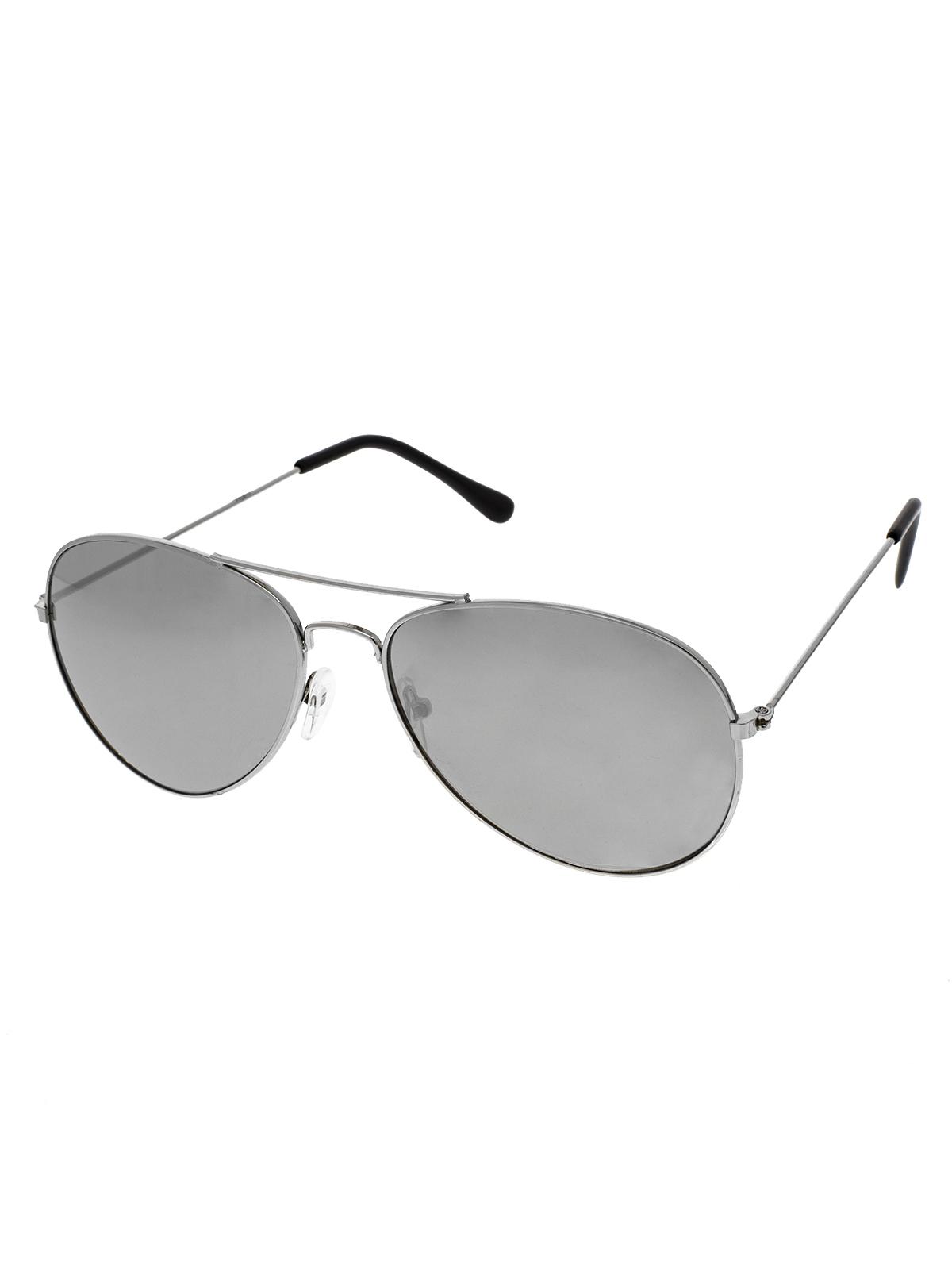 Sluneční brýle pilotky Conor stříbrné obroučky zrcadlová stříbrná skla
