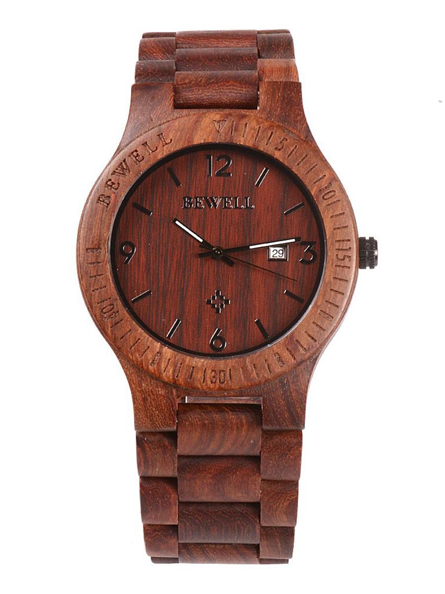 Dřevěné hodinky Senti hnědé