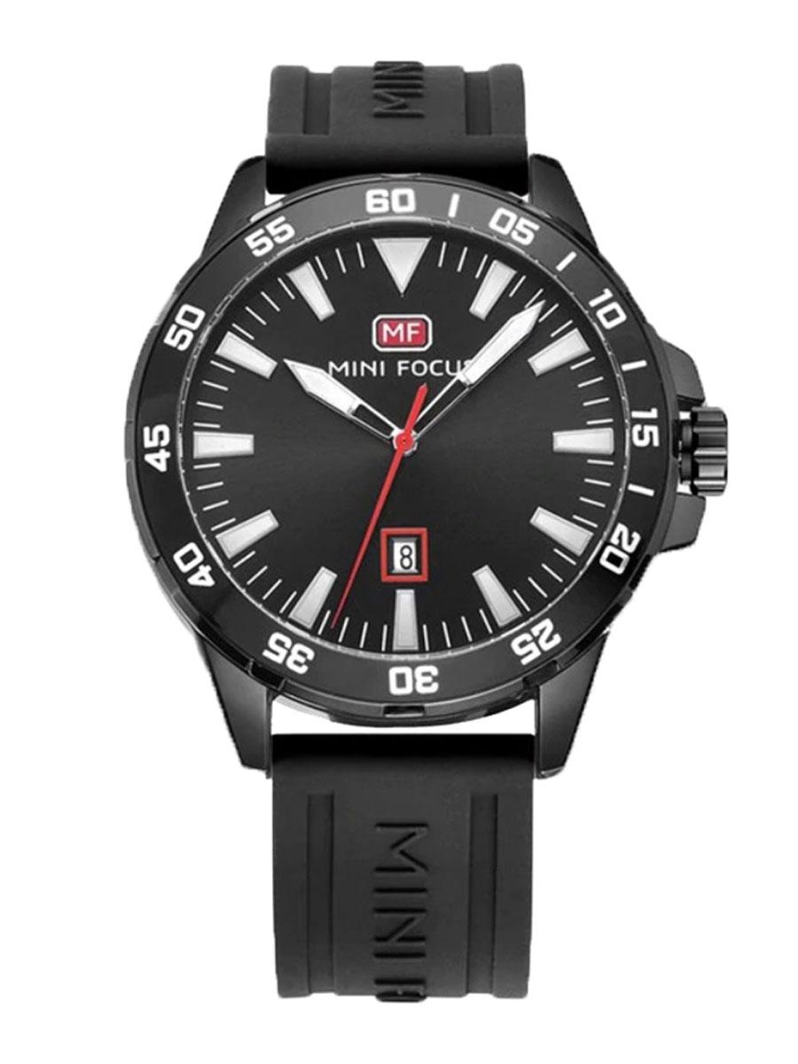 Pánské hodinky s velkým ciferníkem Borrow černé