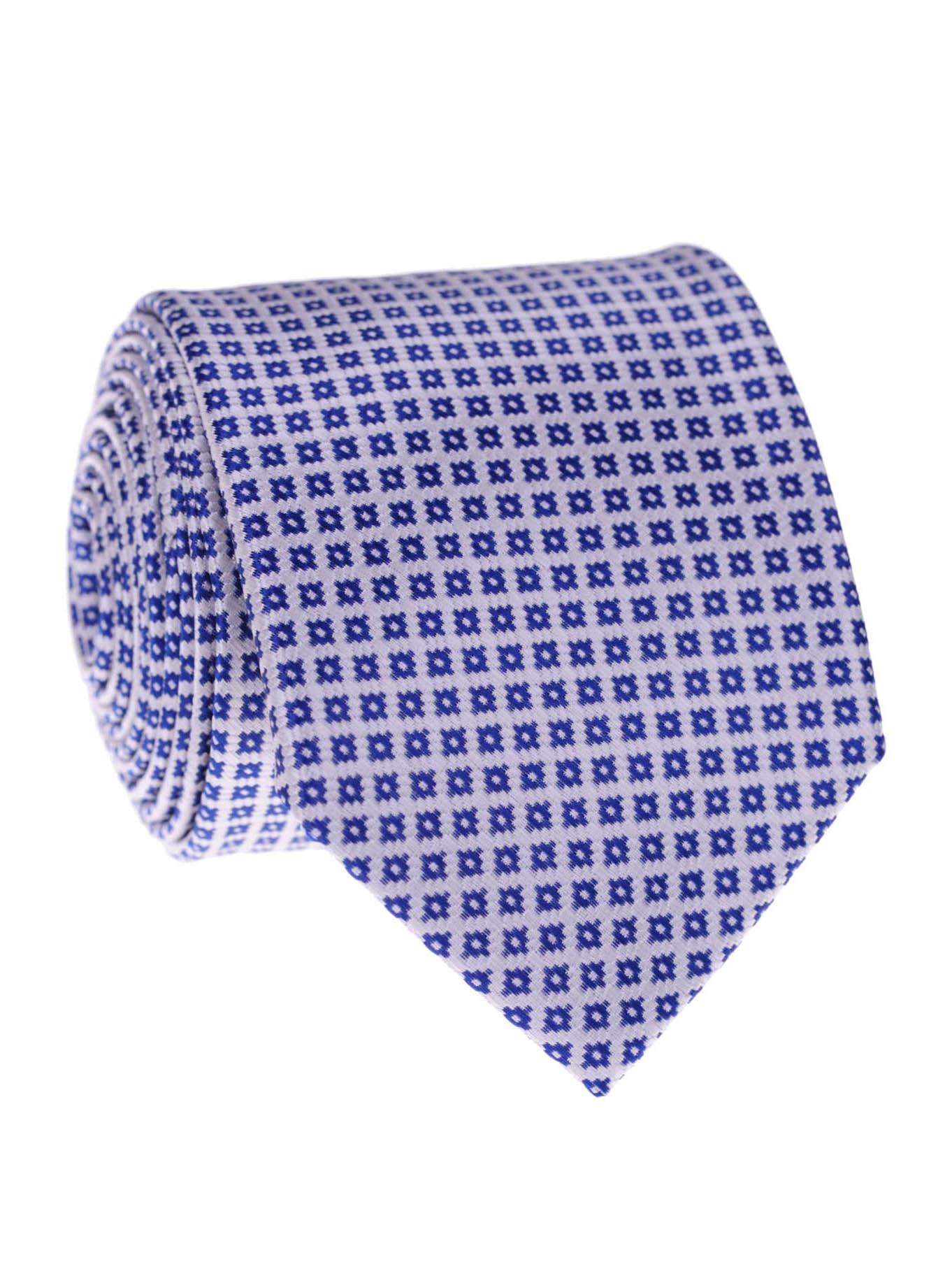 Pánská kravata Sean bílo-modrá