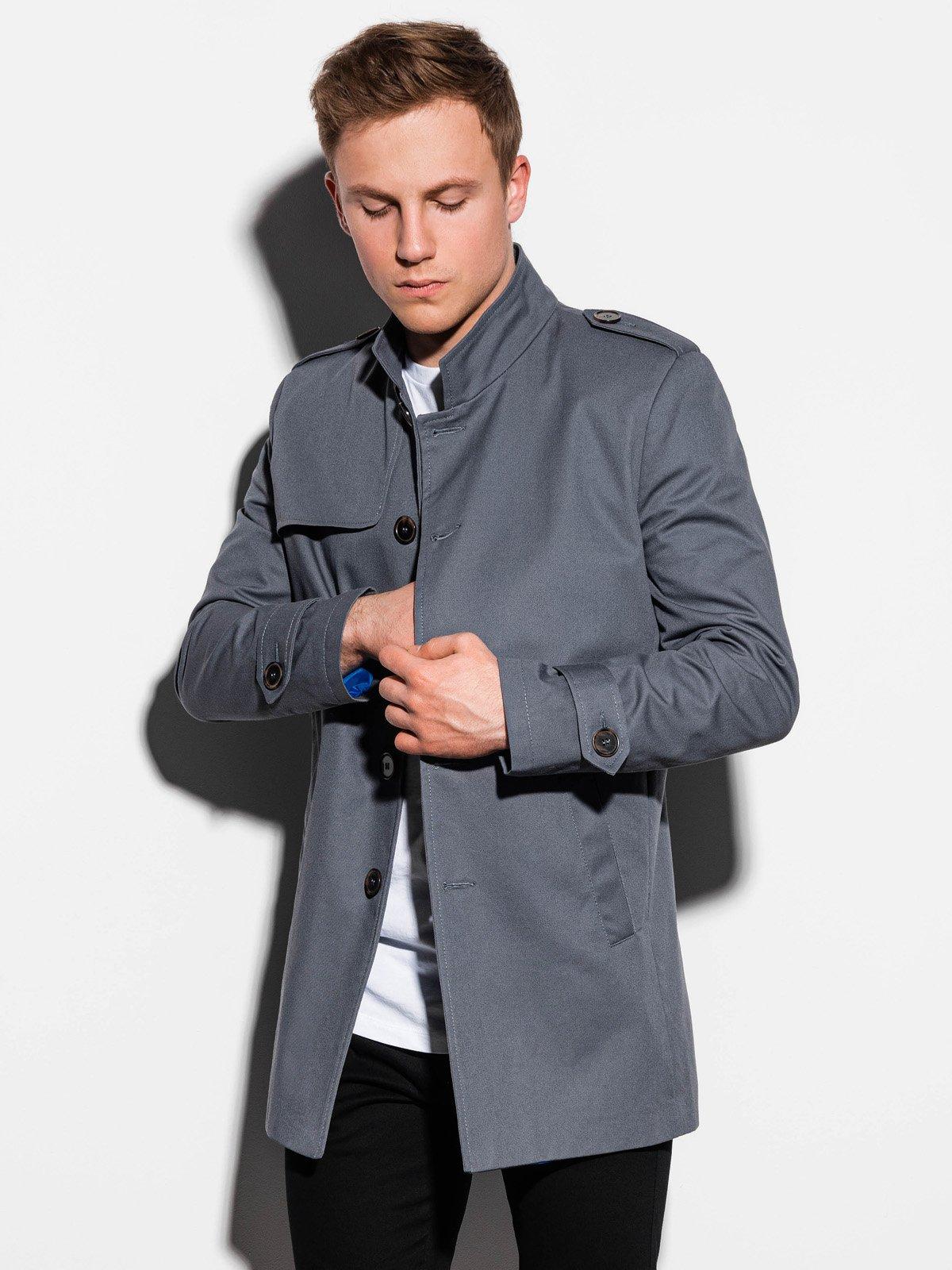 Pánský podzimní kabát k obleku Eliot šedý