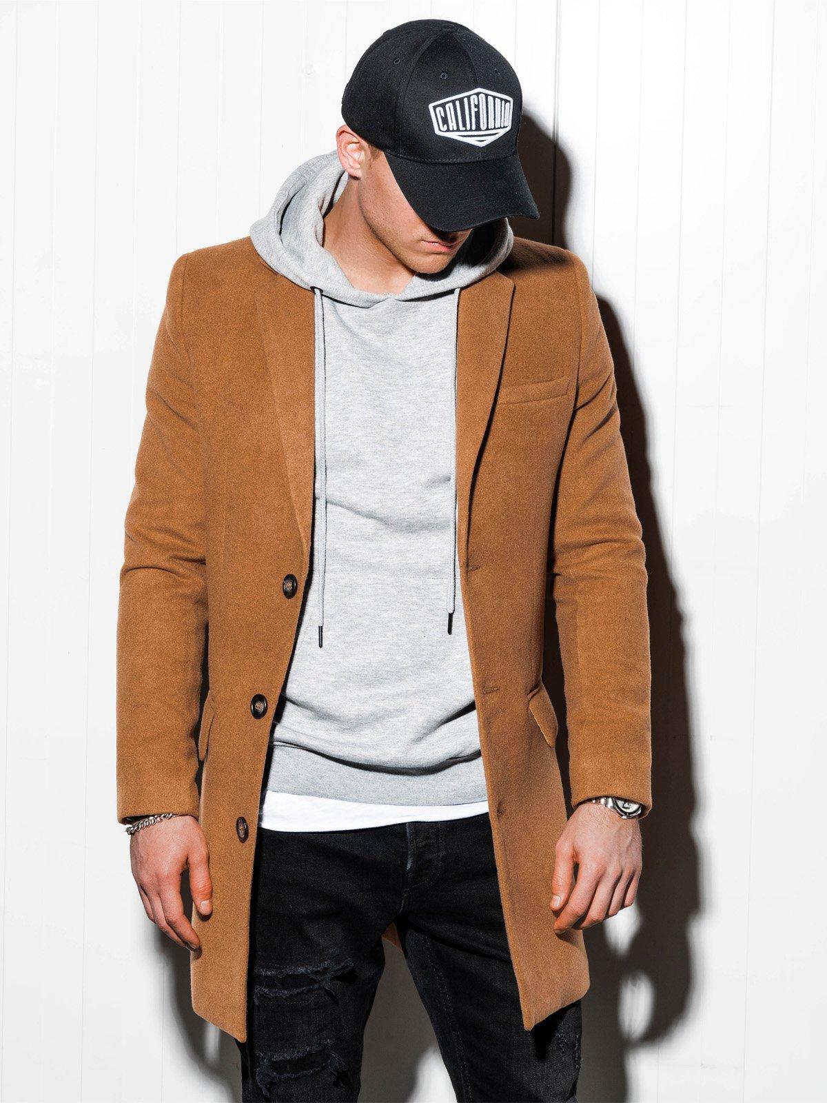 Pánský kabát Niko hnědý