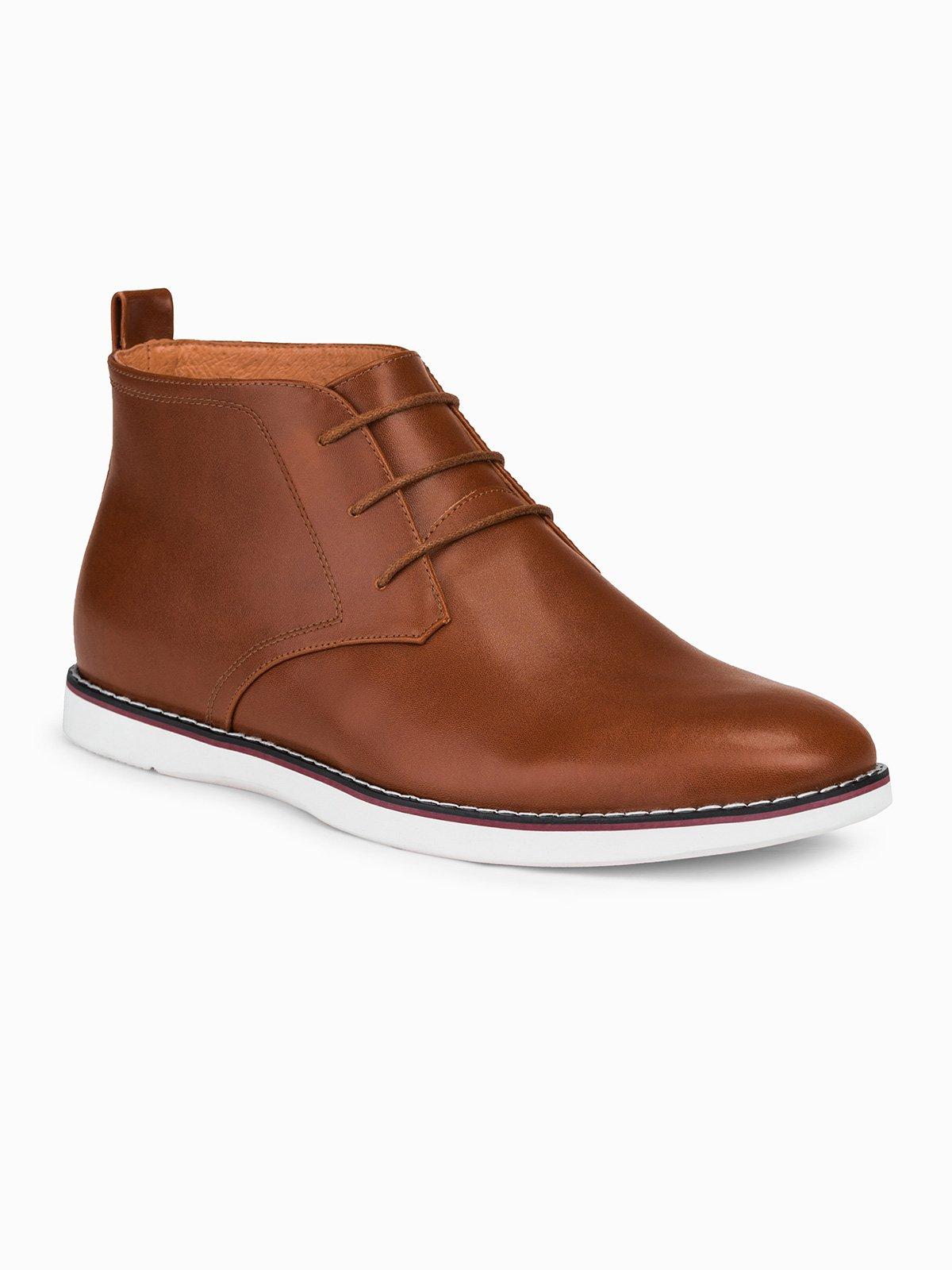 Pánské kožené boty Mosese hnědé