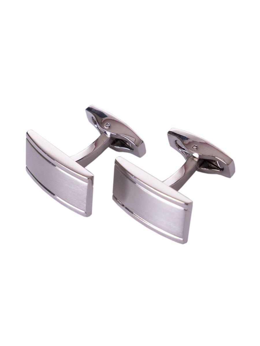 Pánské kovové manžetové knoflíky Shield stříbrná