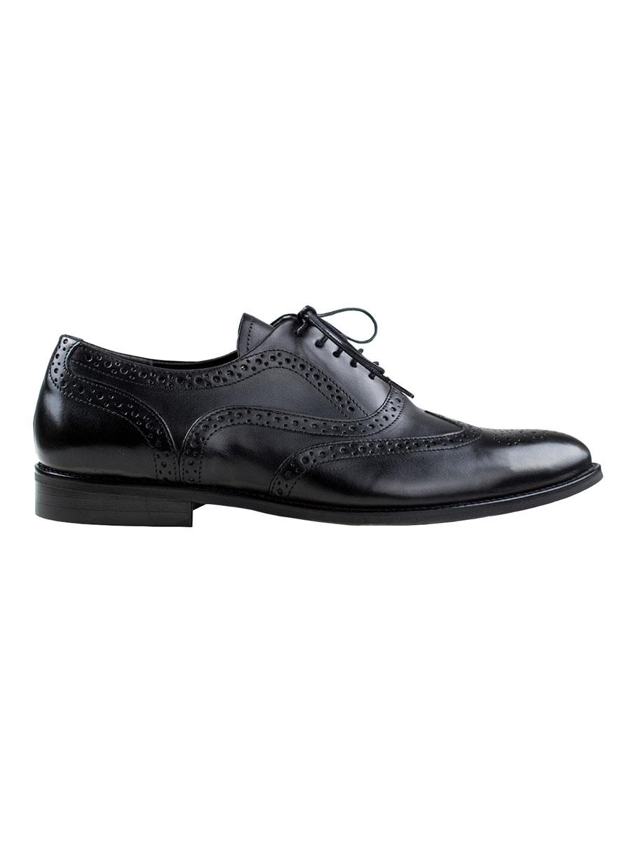 Pánské kožené boty oxfordky Perucci černé