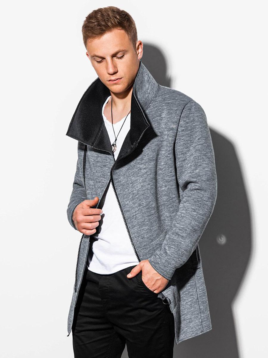 Pánský podzimní kabát Alexandre tmavě šedá