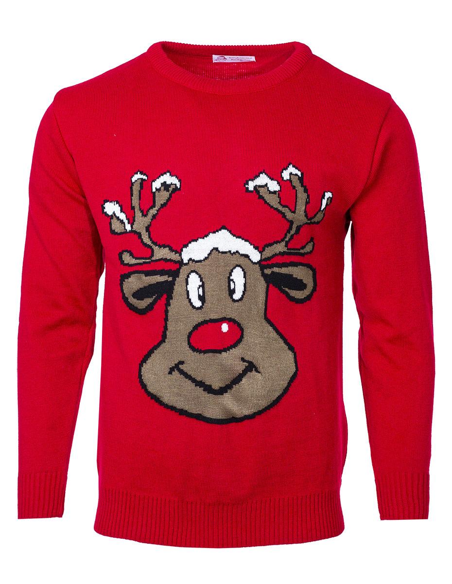 Pánský svetr se sobem Reindeer červený