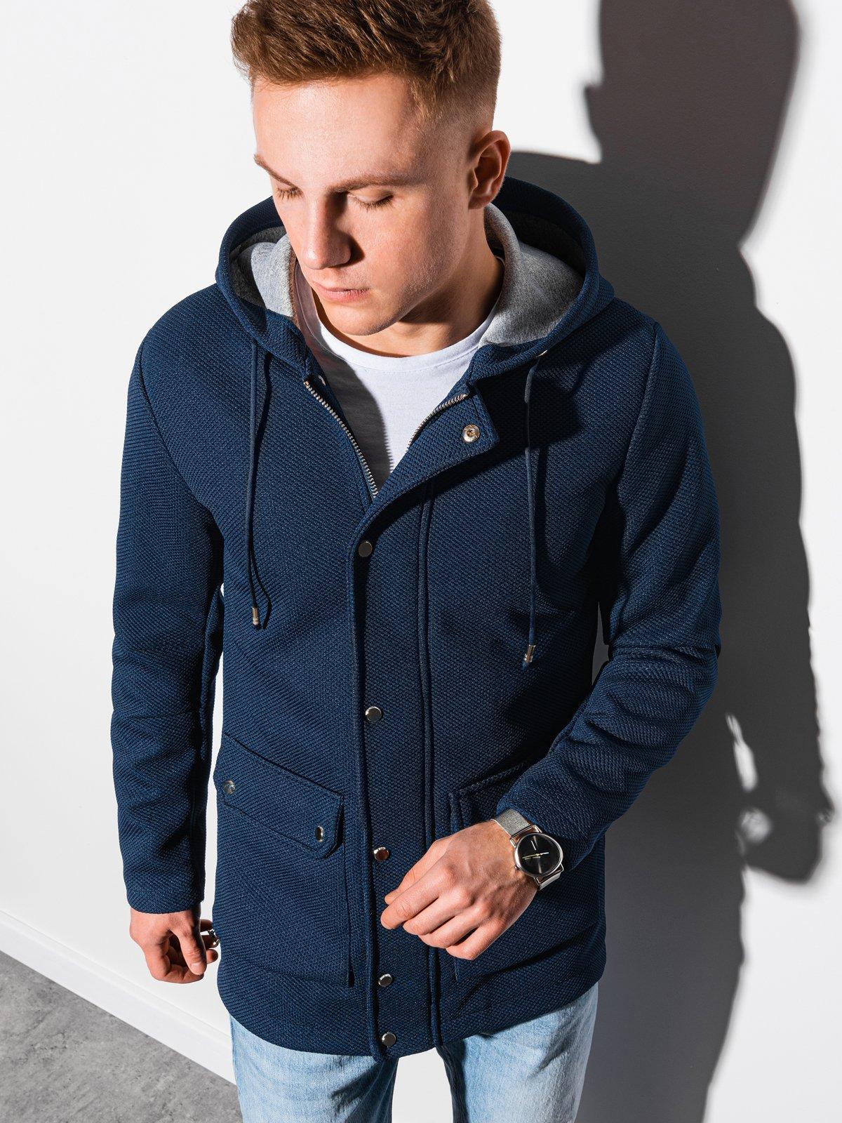 Pánský podzimní kabát Fabio navy