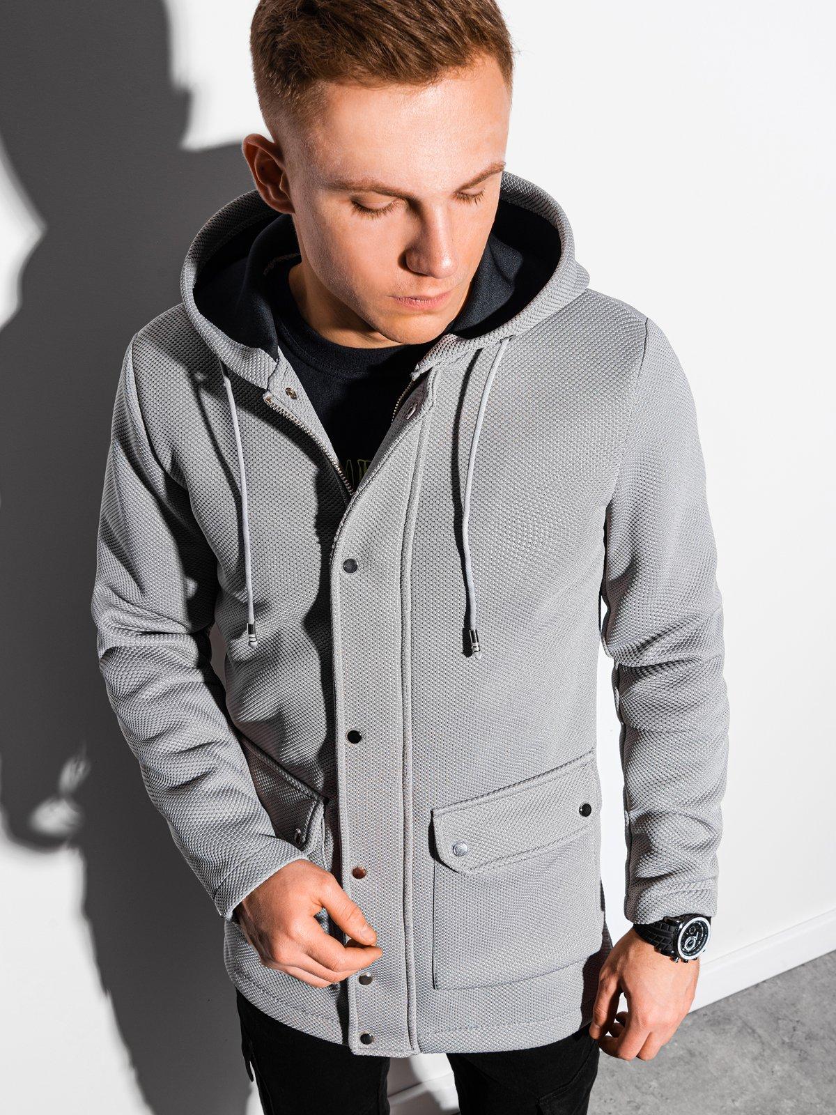 Pánský podzimní kabát Fabio šedá