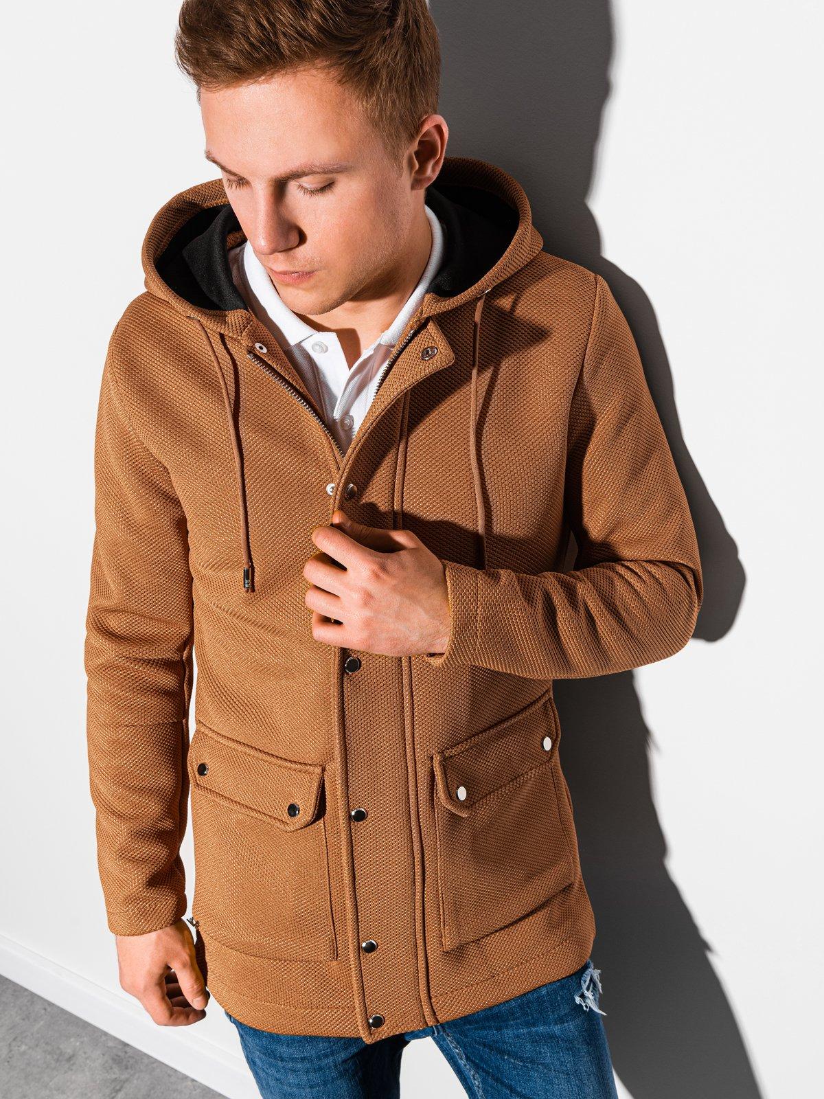Pánský podzimní kabát Fabio hnědá