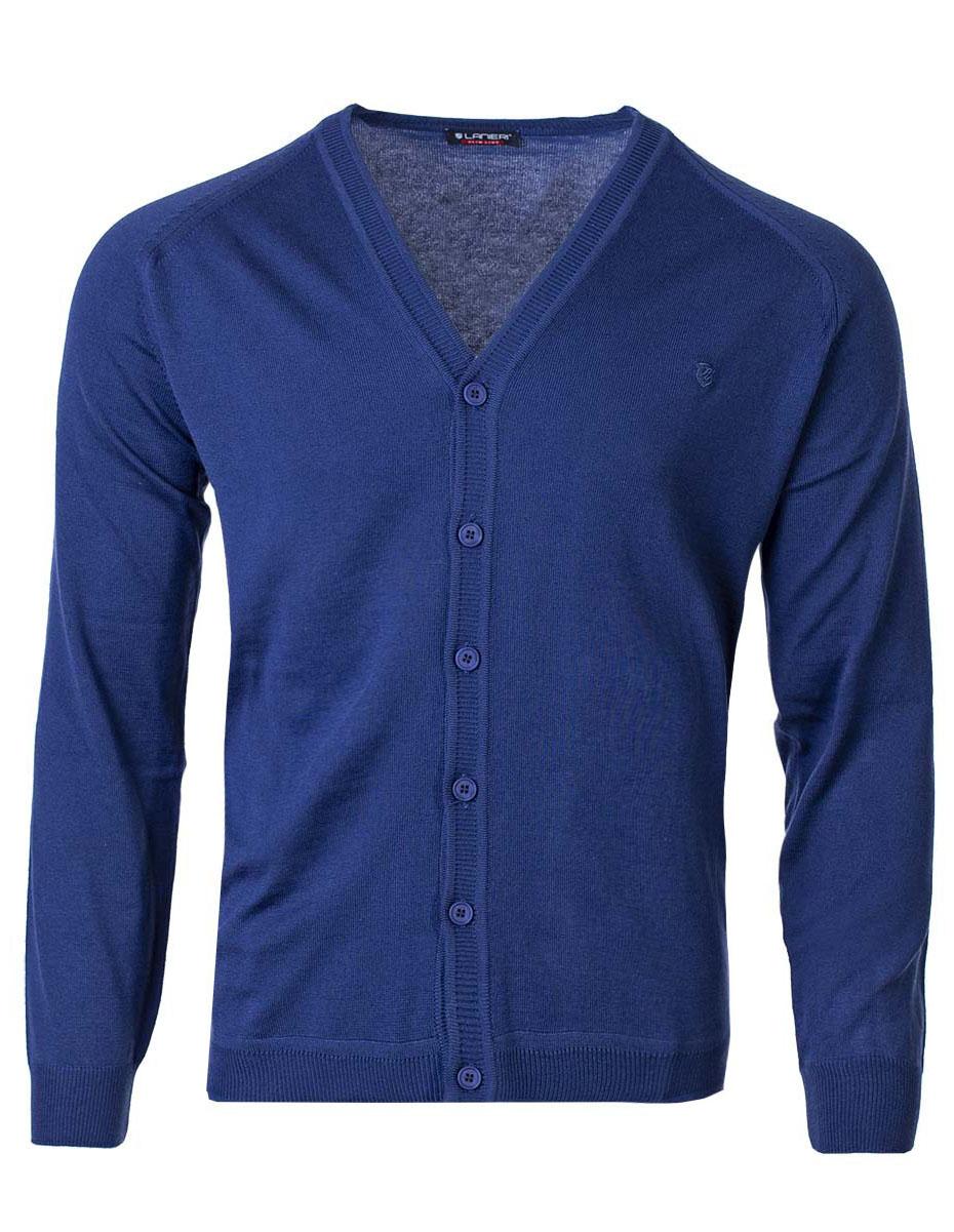 Pánský svetr na knoflíky Jared tmavě modrá