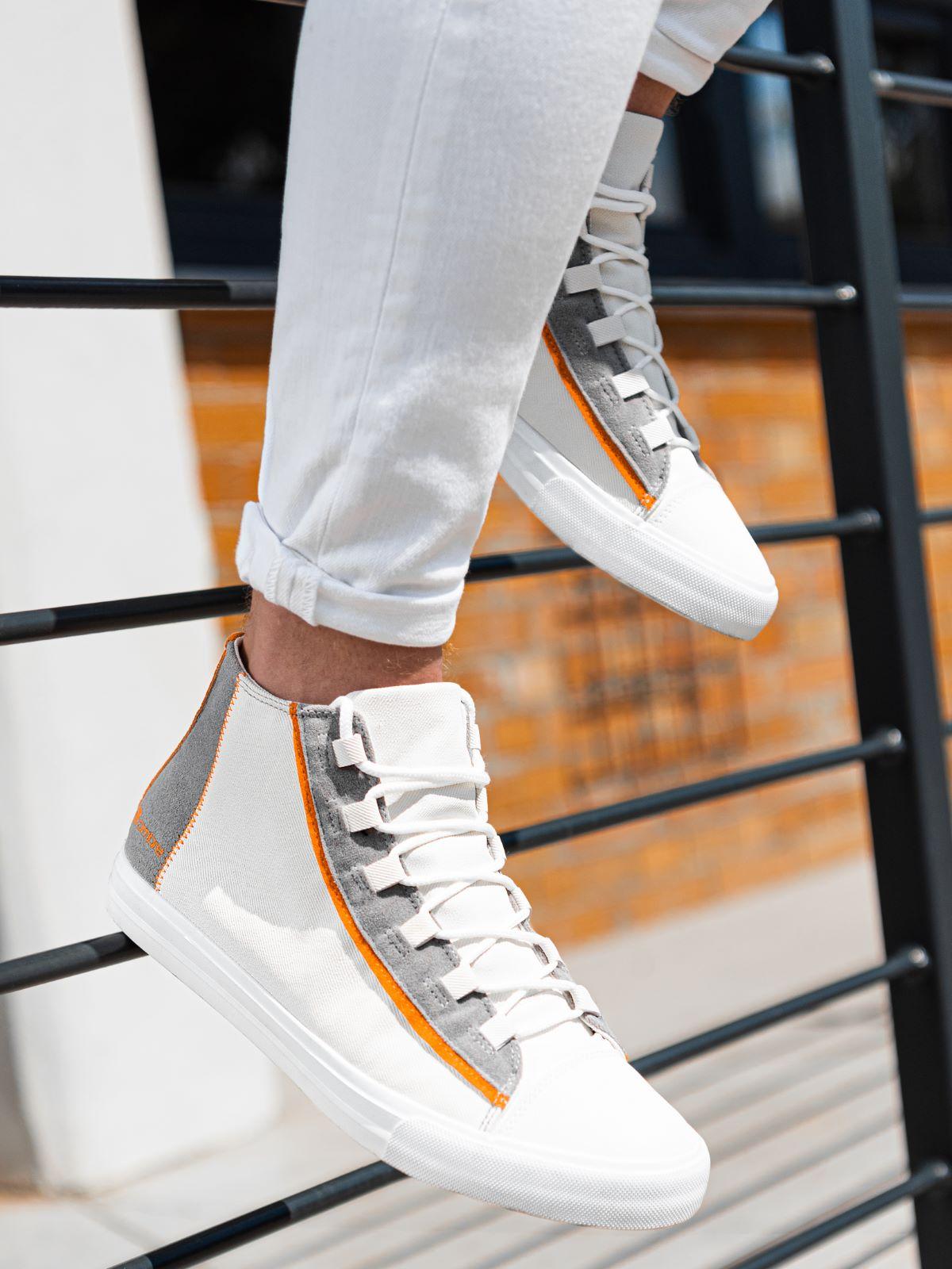 Pánské kotníkové tenisky Haney bílá