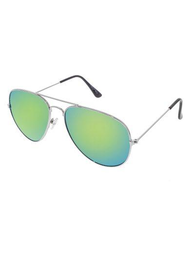 Sluneční brýle zrcadlové pilotky zelené