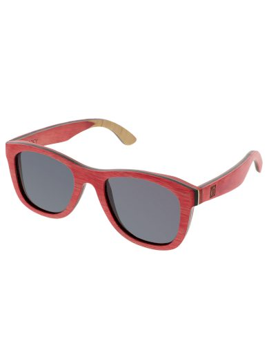 Sluneční brýle dřevěné polarizační Metasequoia růžové