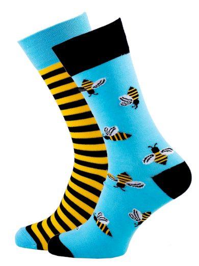 Veselé unisex ponožky Bee multicolor