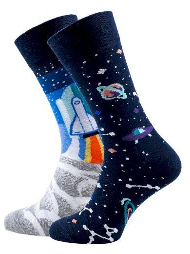Veselé vzorované ponožky Space Trip multicolor