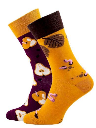 Veselé vzorované ponožky Pear multicolor