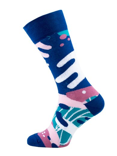 Veselé barevné vzorované ponožky Scribble multicolor