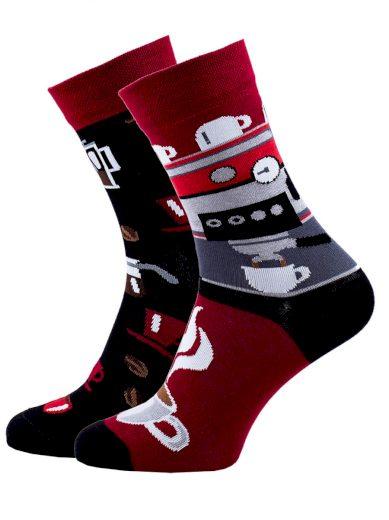 Veselé barevné vzorované ponožky Espresso multicolor