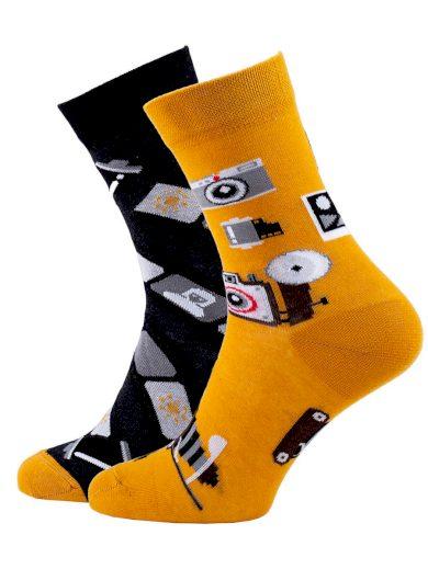 Veselé barevné vzorované ponožky Camera multicolor