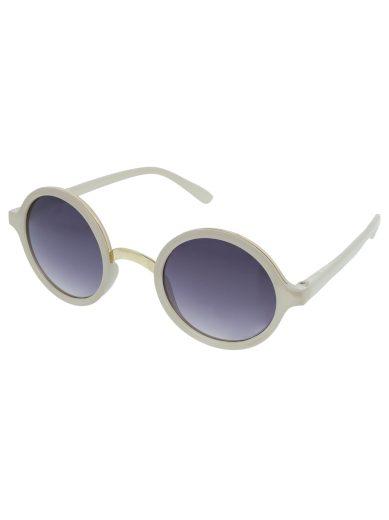 Kulaté sluneční brýle Peeper bílé obroučky kouřová skla