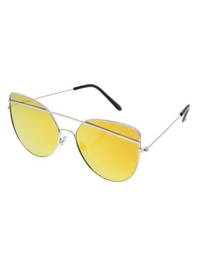 Sluneční letecké brýle Giant stříbrné obroučky žlutá skla