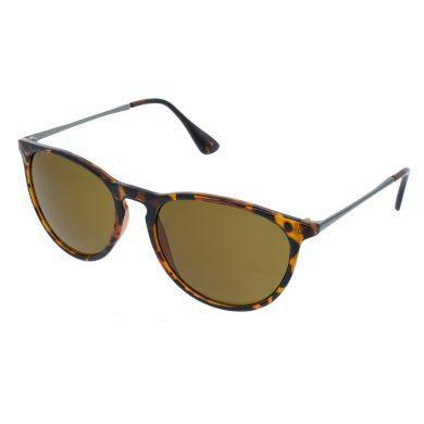 Sluneční brýle Lean žíhané hnědé obroučky hnědá skla
