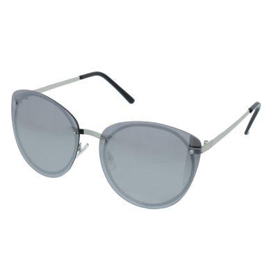 Velké sluneční brýle Plate stříbrné obroučky stříbrná skla