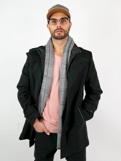 Pánský vlněný kabát Octave černý