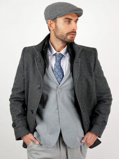 Pánský zimní kabát Eloy tmavě šedý
