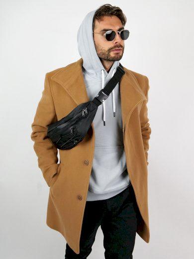 Pánský vlněný kabát Lawson hnědý