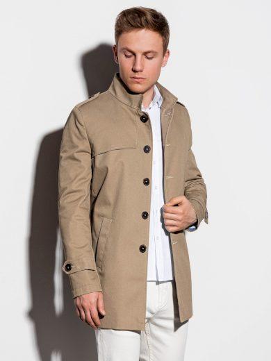 Pánský podzimní kabát k obleku Eliot béžový