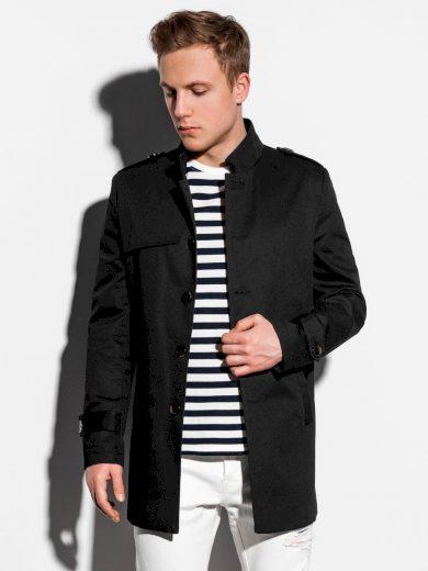 Pánský podzimní kabát k obleku Eliot černý