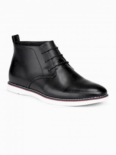 Pánské kožené boty Mosese černé
