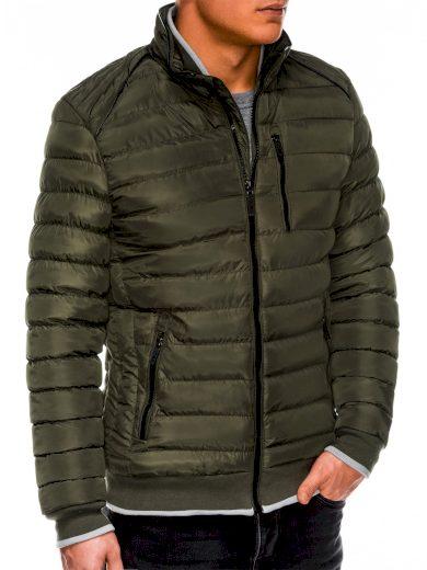 Pánská zimní bunda bez kapuce Beck zelená
