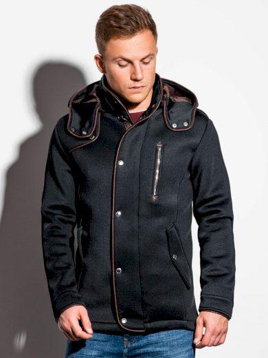 Pánský kabát s kapucí Raylan černý