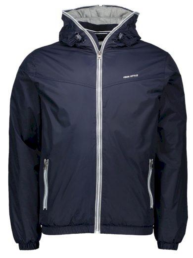 Pánská zimní bunda s kapucí Edoardo navy