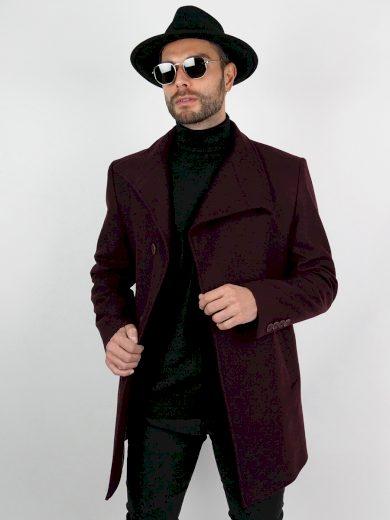 Pánský tříčtvrteční kabát Garner bordó