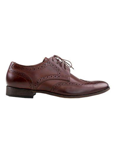 Pánské boty s derbou Angelo tmavě hnědé