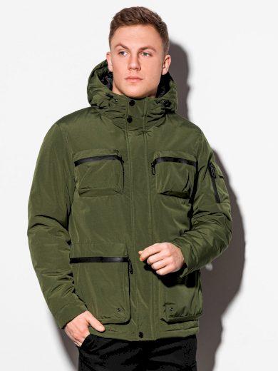 Pánská zimní prošívaná bunda Bohater khaki