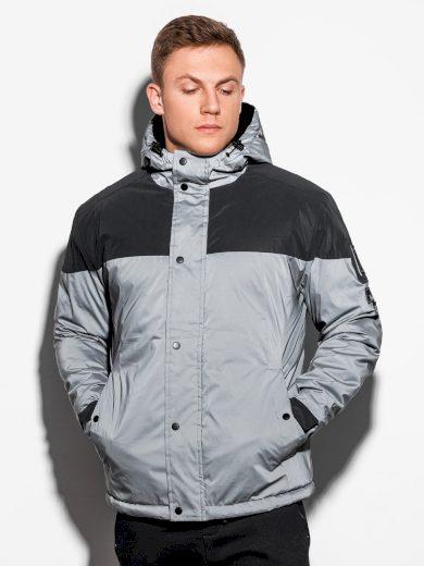 Pánská zimní bunda Bazyli šedá