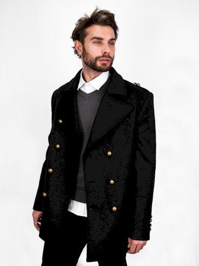 Pánský kabát Emile černá