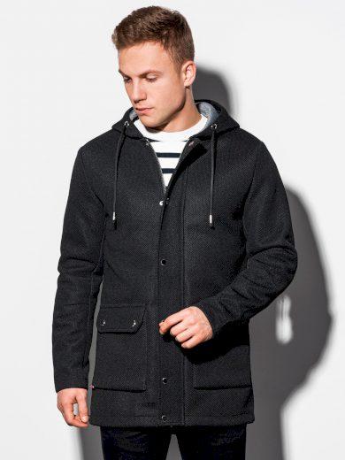 Pánský podzimní kabát Fabio černá