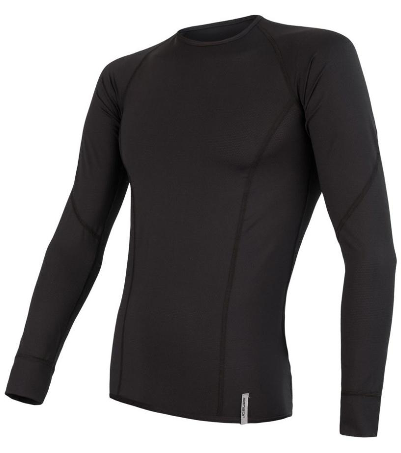 COOLMAX TECH Pánské funkční triko dlouhý rukáv 20100015 černá S