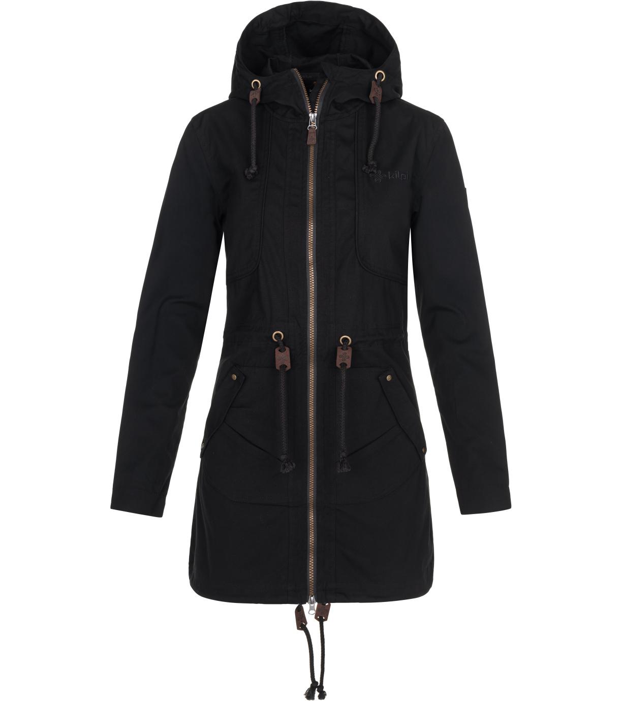 KILPI Dámský podzimní kabát PAU-W NL0081KIBLK Černá 34